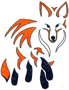 Tribal Fox #tribal #fox #drawing