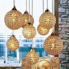Golden Ljuskronor med 8 Ljus Används för Living Room - SEK Kr. 2,340