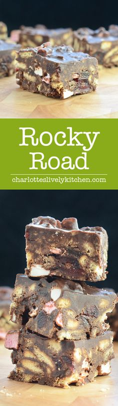 A scrumptious, indulgent and easy-to-make rocky road recipe. A scrumptious, indulgent and easy-to-make rocky road recipe. A scrumptious, indulgent and easy-to-make rocky road recipe. A scrumptious, indulgent and easy-to-make rocky road recipe. Rocky Road Fudge, Rocky Road Chocolate, Bake Off Recipes, Fudge Recipes, Candy Recipes, Sweet Recipes, Desserts With Biscuits, Köstliche Desserts, Delicious Desserts