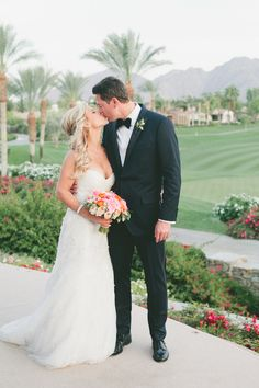 Bride and Groom Share a Kiss | Toscana Country Club | Onelove Photography | TheKnot.com