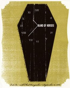 Band of Horses Concert Poster  Sep 19, 2006