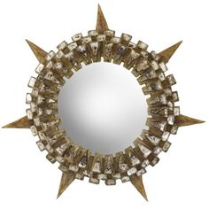 "H.M. Luther, Inc. - A Talosel ""Tudor"" Convex Mirror by Line Vautrin - 1stdibs"