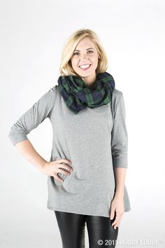 Plaid is the perfect finishing touch to your fall wardrobe. Why not try making your own blanket scarf using your favorite colors and cozy flannel fabric?
