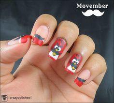 Movember Inspired Nail Art!!ang