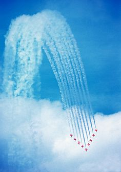 """Royal Air Force Aerobatic Team """"The Red Arrows"""", Overyssel, Netherlands; photo by Harry Eggens"""