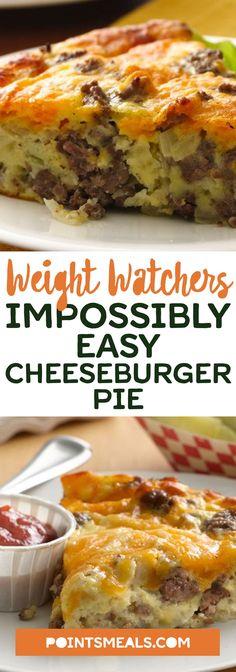 Easy Cheeseburger Pie #weight_watchers #breakfast