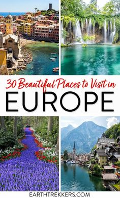 Beautiful places to visit in Europe: Paris, Cinque Terre, Santorini, Lofoten Islands, Mostar, Costa Brava, Madeira, Alsace, Lake Bled, Bavaria, Faroe Islands, Isle of Skye, Plitvice Lakes, and more. #europe #travel