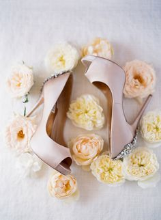 wedding shoes - photo by MiBelle Photography http://ruffledblog.com/romantic-blush-santa-barbara-wedding