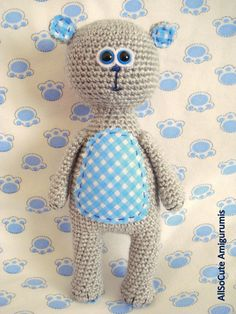 Crochet Pattern Amigurumi Pattern Amigurumi Toy Teddy by AllSoCute, $3.50