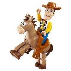 Lego Woody and Bullseye Lego Toy Story, Toy Story 3, Disney Movies, Disney Pixar, Walt Disney, Lego Display, Lego Toys, Lego Storage, Lego Friends