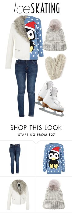 """""""Ice skating"""" by xo-panda-xo ❤ liked on Polyvore featuring Glamorous, Eugenia Kim, Bibico and Riedell"""