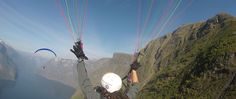 Experience tandem paragliding into the Fjords with the pilots from Voss Paragliding Klubb and see Fjords from the air! Water Activities, Outdoor Activities, Capital Of Norway, Kayak Tours, Paragliding, Adventure Tours, Tour Operator, During The Summer, Rafting