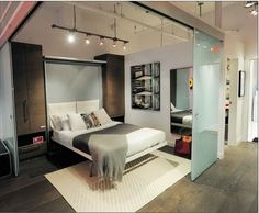 Lit mural on pinterest murphy beds murale and armoire for Sofa lit laval