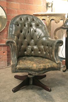 pietro's chiar - an italian chesterfield from the 1920's! if we had 1000's in the budget