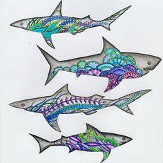Johanna Basford's Secret Garden - Sharks