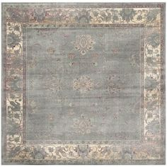 Shop for Safavieh Antiqued Vintage Grey Viscose Rug (6' Square). Get free shipping at Overstock.com - Your Online Home Decor Outlet Store! Get 5% in rewards with Club O!