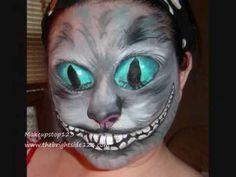 A bit creepy Cheshire Cat from makeup from Alice in wonderland Face Paint Makeup, Sfx Makeup, Costume Makeup, Diy Halloween Costumes, Halloween Makeup, Halloween Stuff, Halloween Ideas, Costume Ideas, Cheshire Cat Makeup