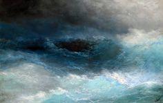 "Ivan Aivazovsky ""Among the Waves"" - (1898)"