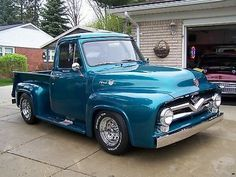 1955 Ford Pick up Old Ford Pickup Truck, 56 Ford Truck, Vintage Pickup Trucks, Classic Pickup Trucks, Old Ford Trucks, New Trucks, Car Ford, Custom Trucks, Custom Cars
