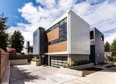Modernes Haus in Seattle verbindet helle Innenräume und hinreißende Aussichten - http://wohnideenn.de/exterior-design/07/modernes-haus-in-seattle.html