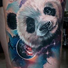 Ideas drawing realistic tattoo art for 2019 Cute Panda Drawing, Cute Bear Drawings, Animal Drawings, Cool Drawings, Realistic Tattoo Sleeve, Leg Sleeve Tattoo, Panda Tattoo, Tiger Tattoo, Animal Tatoos