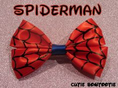 Spiderman hair bow (perfect for my step daughter, she's a tomboy & loves Spiderman)