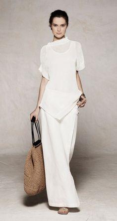 cool chic style fashion: Sarah Pacini ss love, love, love this! Style Désinvolte Chic, Style Work, Mode Style, Style Me, White Fashion, Look Fashion, Womens Fashion, Fashion Trends, Fashion Decor
