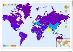"""""""Mapa interactivo de densidad de población del mundo"""" (Educaplus)"""