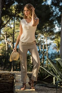 Pantalon AUGUSTINE #terreetmer #été #cassis Collection, Style, Fashion, Stay True, Backpacker, Skirt, Swag, Moda, Fashion Styles