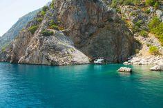 Turquoise coast near Çıralı from the boat. Cirali, Turkey.