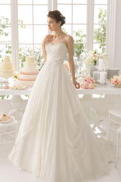 2015 Sweetheart Princess Wedding Dress Court Train With Ruffles And Handmade Flower USD 229.99 TDPNM9BPGH - TrendProm.com