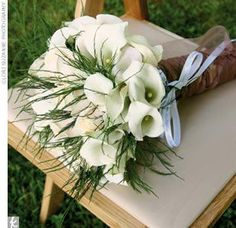 White Calla Lillies for a beautiful bridal bouquet.