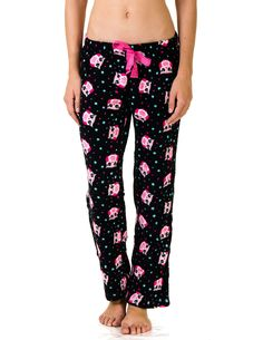 0245f0d159a Rene Rofe Soft   Warm Plush Pajama Pants With Lurex Drawstring