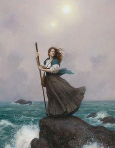 Mother Ocean, Daughter Sea Picture  (2d, illustration, girl, woman, portrait…