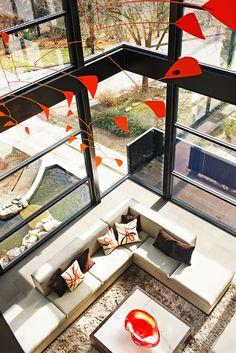 Living Room in modern house in Ansley neighborhood - Atlanta, GA  Interior & Furniture Design by Michael Habachy