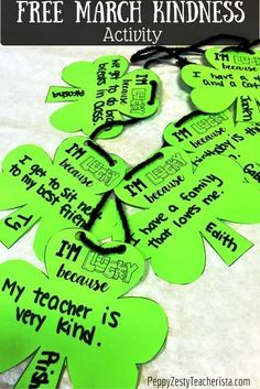Books Teachers Love for March! Looking for some March reading month ideas and activities?! Reading Comprehension with QR codes in the classroom. I love the FREE kindness activity to encourage those to share why they are lucky! It's the perfect St. Patrick's Day crafts for kids!