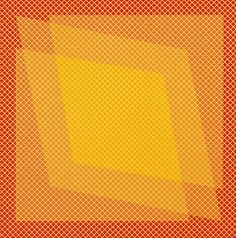 """Julian Stanczak: """"Grid-Orange"""" (1972)."""