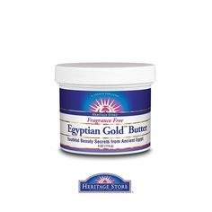 Harness the beauty secrets of Nefertiti and #Cleopatra: raw honey, propolis, bee pollen, cocoa butter, castor oil, black seed oil, and frankincense resin essential oil. This luxurious fragrance free Egyptian Gold Butter provides moisture protection during harsh #weather or makes a great night cream to help replace deep moisture while you sleep.