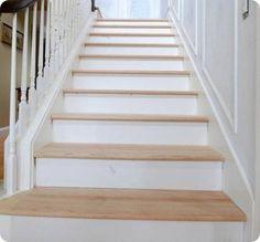 DIY hardwood stair treads