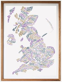 Literary Map of Brit Lit, love this!