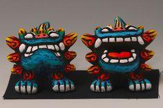 Shisa Sacred Guardian Beasts on Your Desk 01 | eBay