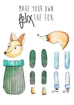Felix the Fox DIY for Omstebeurt made by Anouck Plume.