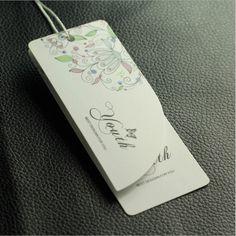 Papel personalizado Etiqueta de la caída para la ropa hangtag con laminación no manuscrita aceptar pequeña orden 500 unids/lote