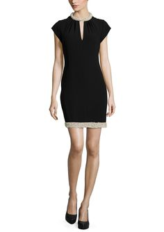 RACHEL ZOE Maxine Beaded Cap Sleeve Slim Dress | ideel