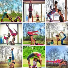 Mother and daughter. Yoga