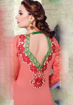 Beige And Multicoloured Long Chaderi Designer suits http://alicolors.com/index.php?route=product/category&path=102