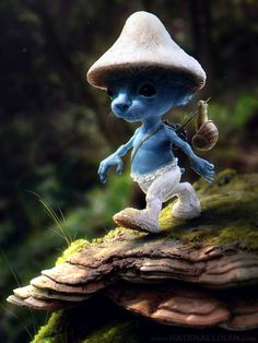 BY: Nate Hallinan........Smurf sighting...... Click on image to enlarge....