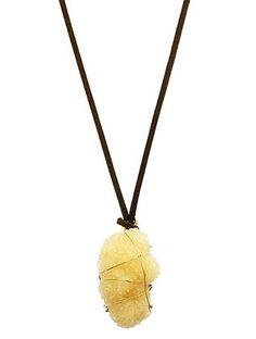 NATURAL STONE PENDANT ADJUSTABLE NECKLACE