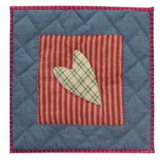 Primitive Hearts Cotton Throw Pillow