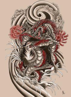 Japanese Tattoo Commission by Beautiful-Beasties on DeviantArt